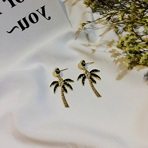 Palm Pearl Ring (Ai Love earrings Long earrings Korean fashion personality sweet pearl earrings earrings palm cactus)