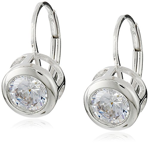 Platinum-Plated 925 Sterling Silver Round AAA Cubic Zirconia Earrings (3.8 cttw)