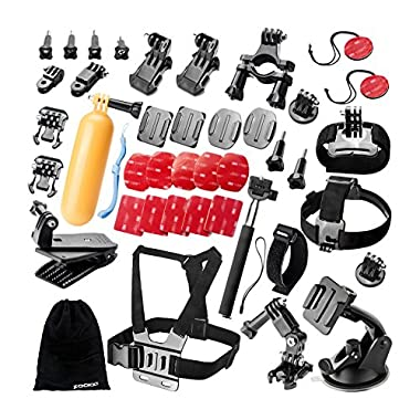 Zookki Sports Accessories Kit for GoPro HERO 4 / 3+ / 3 / 2 / 1 / SJ4000 / SJ5000 / SJ6000 (37 Items)