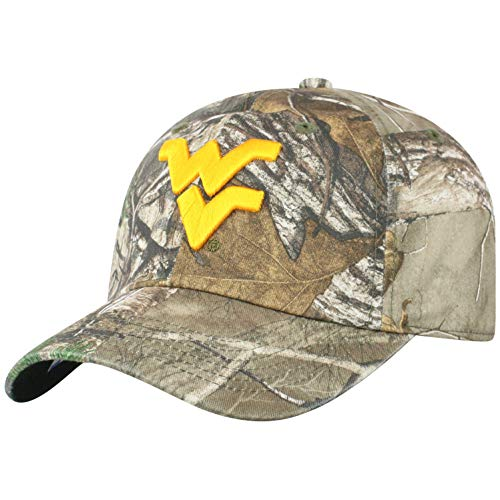 Top of the World NCAA Men's Real Tree Camo Adjustable Icon Hat, West Virginia Mountaineers