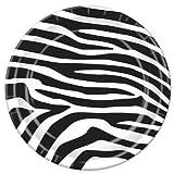 Kitchen & Housewares : Zebra Print Plates   (8/Pkg)