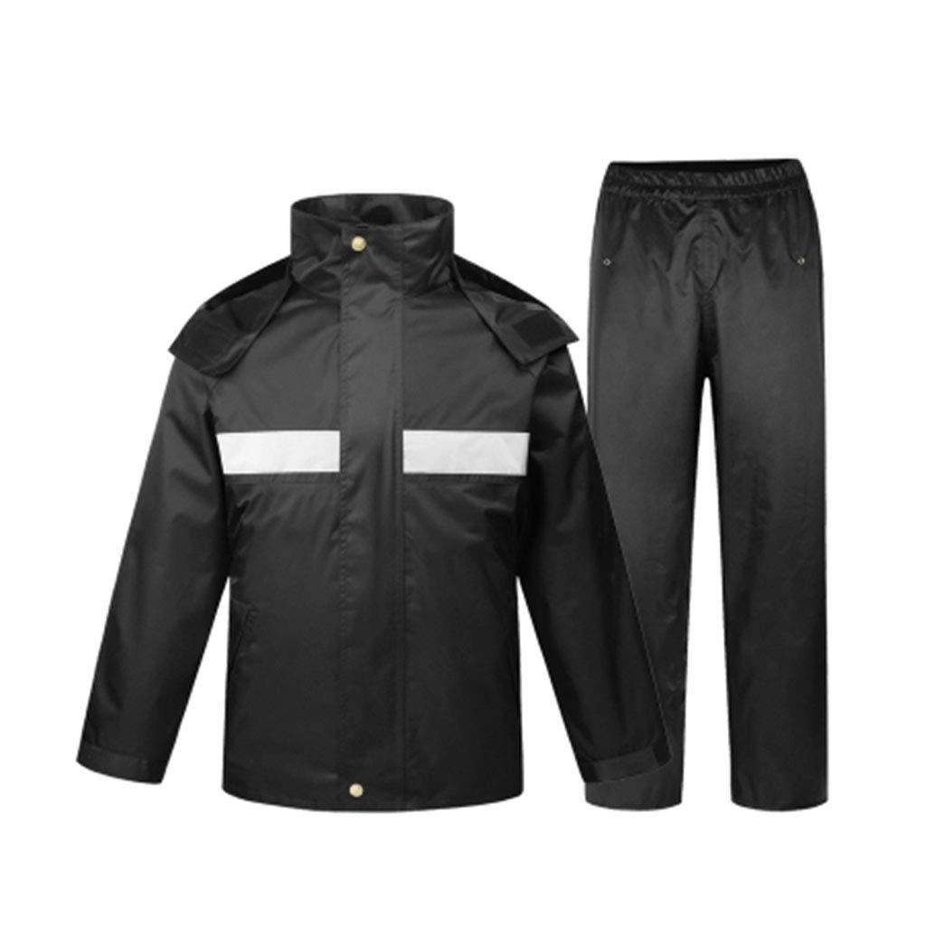 Noir grand JTWJ Pantalon de Pluie imperméable pour Adulte en Plein air Moto, Combinaison Multi-Taille en Option (Noir) (Couleur   Noir, Taille   M)