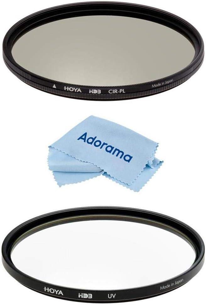 Hoya 62mm HD3 UV and Circular Polarizer Filter Kit with Microfiber Cloth