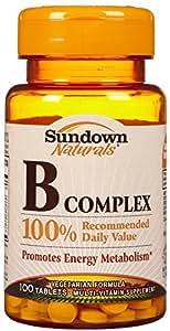 Sundown Naturals B-Complex Tabs, 100 Count