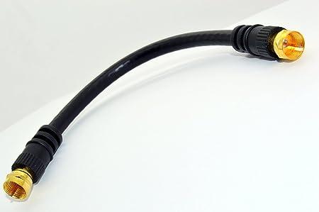 HD-LINE Satfconf20 Cable coaxial para Satfinder, de 20 cm, Color Negro