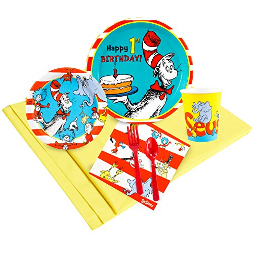Dr Seuss 1st Birthday Party Supplies - Party Pack for -