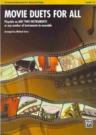 1 Bassoon Book Music ([(Movie Duets for All: Trombone/Baritone B.C./Bassoon/Tuba, Level 1-4 )] [Author: Michael Story] [Jan-2010])
