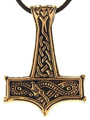 Thorshammer Anhä nger aus Bronze mit Baumwollband Eastern Gems ABC-1203neu