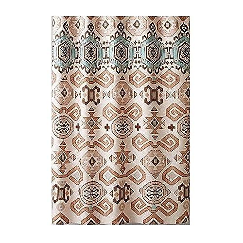 Aztec Fabric Shower Curtain Southwestern Design