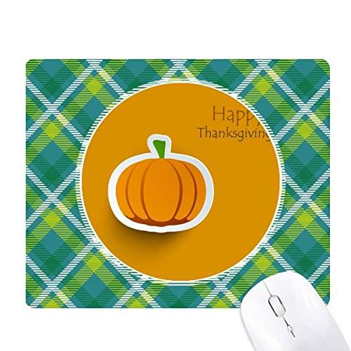 Thanksgiving Day Pattern Cartoon Pumkin Green Lattices Grid Pixel Mouse -
