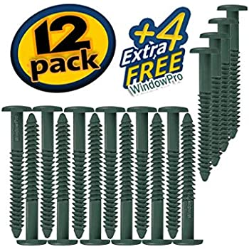 WindowPro Forest Green 32 Pack Shutter Peg Loks 3 inch Forest Green