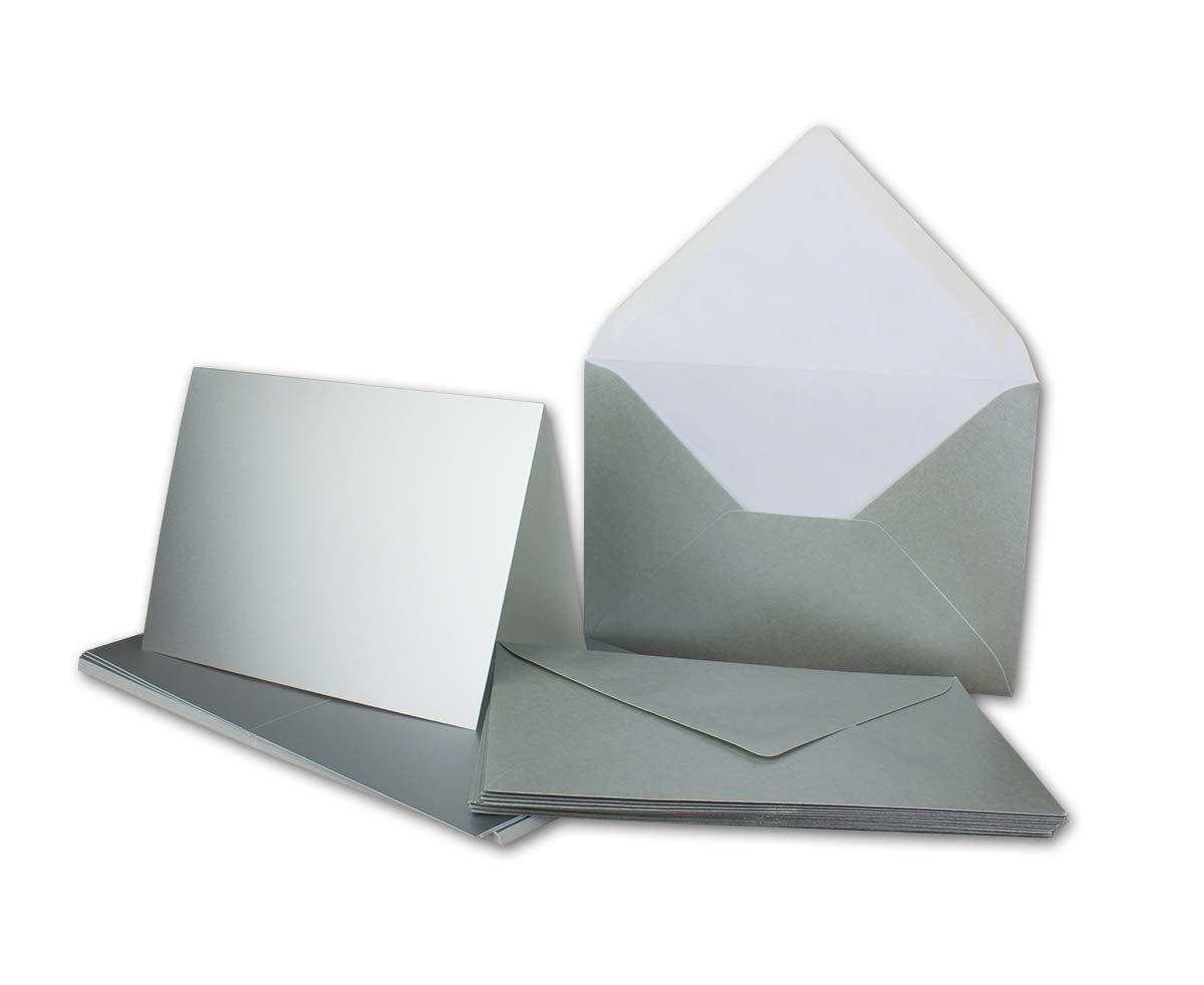 Faltkarten Set mit Brief-Umschlägen DIN A6   C6 in Rosanrot   100 Sets   14,8 x 10,5 cm   Premium Qualität   Serie FarbenFroh® B07Q1HLK89 | Neuer Stil