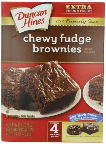 Duncan Hines Brownie Mix, Chewy Fudge, 79.6 (Kosher Brownie)
