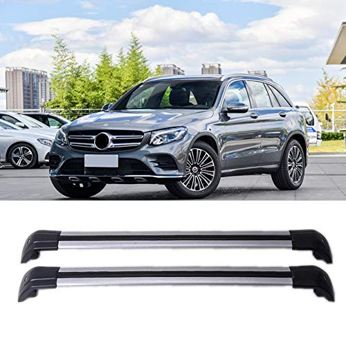 MotorFansClub Luggage Rack Roof Rack Rail Aluminum Top Cross Bar Crossbar Baggage for Mercedes Benz GLC X253 W253 GLC43 GLC200 GLC250 GLC300 GLC450 2016 2017 2018(2 PCS) (Roof Benz Mercedes)