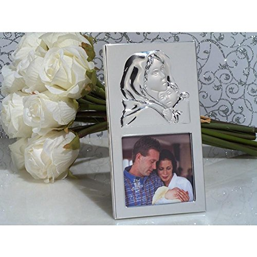 Madonna and Child Silver Photo Frame - 96 Pieces by Cassiani