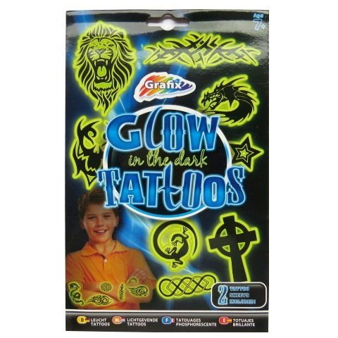 Boys Glow in the Dark Temporary Tattoos - 20 Individual Designs -