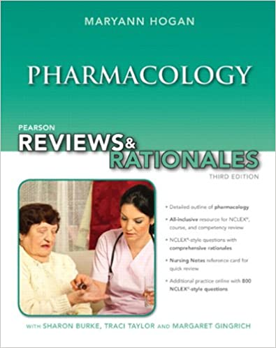 Book Pearson Reviews and Rationales: Pharmacology with 'Nursing Reviews and Rationales' (Pearson Nursing Reviews and Rationales)