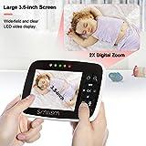 "Video Baby Monitor with 3.5"" Large LCD Screen Night Vision Camera, 2-way Talk, Temperature Sensor, ECO Mode and Long Transmission Range"