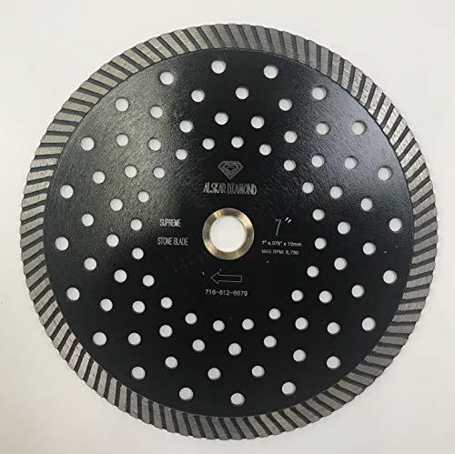 ALSKAR DIAMOND ADLGPC 6 inch Stone Cutting Premium Turbo Continuous Rim Diamond Blades for Granite (6″)