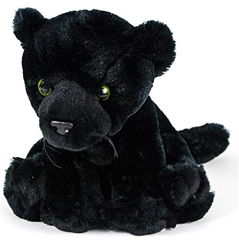 Wildlife Tree 8 Inch Black Panther Stuffed Animal Floppy Plush Black Jaguar Species Collection (Jaguars Snuggie)