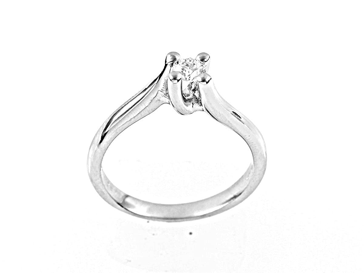 7a9d849cc9f7 FIRENZE luxury anillo diamante solitario kt. 0.07 Opera Italiana Jewellery   Amazon.es  Joyería