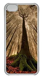 Reach for the sky the trees Polycarbonate Hard Case Cover for iPhone 5C - Transparent