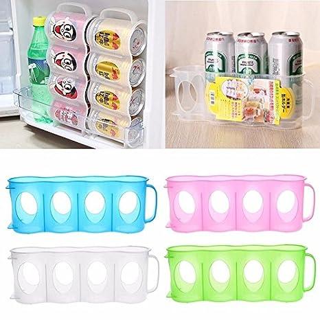 GEZICHTA - Caja de Almacenamiento para Botellas de Cerveza y Soda, Organizador de frigorífico y Nevera: Amazon.es: Hogar