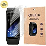 Samsung Gear Fit 2 Screen Protector (6-Pack), QIBOX Full Coverage Shatterproof and Anti-Bubble Screen Protector for Samsung Gear Fit2 (Gear Fit 2)