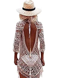 Womens Crochet Swimwear Cover up Bikini Beachwear Swim Beach Dress