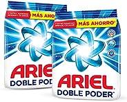 Ariel Detergente en Polvo 3.7Kg, 2 Unidades, Total 7.4Kg
