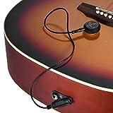 Yimaler Acoustic Guitar Pickup Piezo Contact Microphone Transducer Easily AMP UP for Ukulele Violin Mandolin Banjo Cello(Black)