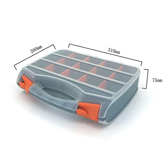 Amazon.com : TOPIND Fishing Tackle Box Gear Boxes Toolbox 2-Sided Storage Organiser Bits Screws Nails Tool Carry Case Fishing Tools DIY/Tools ...