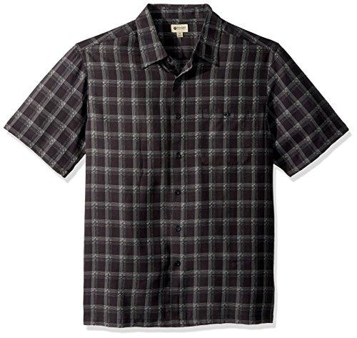 Haggar Mens Big&Tall Short Sleeve Microfiber Woven Shirt
