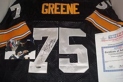 1176606581d Image Unavailable. Image not available for. Color  Joe Greene Signed  Pittsburgh Steelers Jersey ...