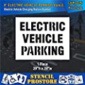 Pavement Stencils - 8 in - Electric Vehicle Parking Stencil - 29'' x 39''