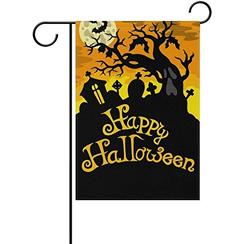 Starochi Happy Halloween Theme Cemetery House Flag Party Yar