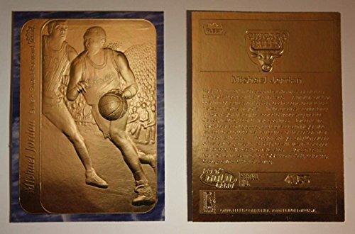 Michael Jordan 1986 Fleer 23KT Gold Rookie Card! Rare Blue Border!