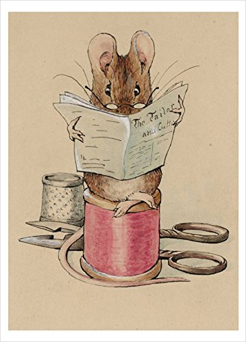 Nouvelles Images Frontispiece, The Tailor Mouse - Beatrix Potter, 1902 Boxed Holiday Card Set (XDB 522)