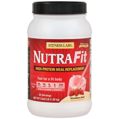 Fitness Labs NutraFit High-Protein Meal Replacement (Strawberry Swirl, 3 Pounds) For Sale