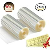 Cake Collars 3.9 x 788inch, Picowe Acetate Rolls, Clear Cake Strips, Transparent Cake Rolls, Mousse Cake Acetate Sheets for Chocolate Mousse Baking, Cake Decorating