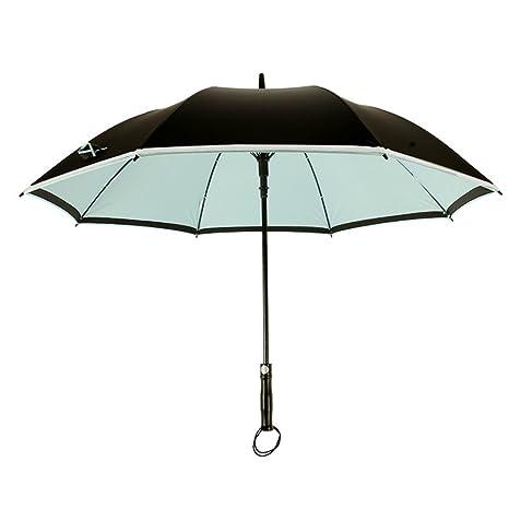 Medio automático Paraguas del palillo,Resistentes al viento Paraguas recto,Doble Business Luminoso Aire