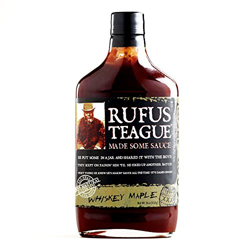 Rufus Teague Whiskey Maple BBQ Sauce 16 oz each (1 Item Per Order)