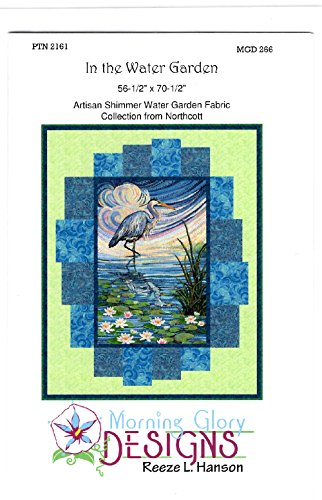 In the Water Garden Quilt Kit Artisan Spirit Water Garden Fabric by Ira Kennedy for Northcott 56.5