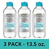 Garnier SkinActive Micellar Cleansing Water, All-in-1 Waterproof Makeup Remover and Facial Cleanser, 13.5 fl oz, 3 Pack