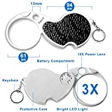 Fancii LED Lighted 3X Folding Pocket Magnifier with
