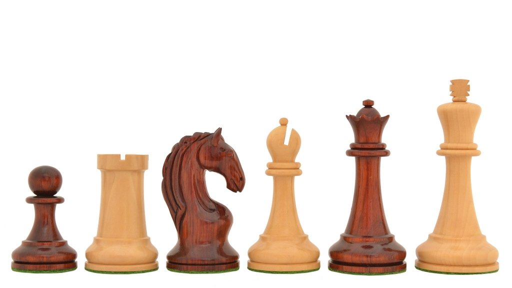 最高の品質の Chessbazaar Reproduced Cup 1963-1966 Piatigorsky Cup Chess King Set Chessbazaar in Bud Rose/ Box Wood - 4.2