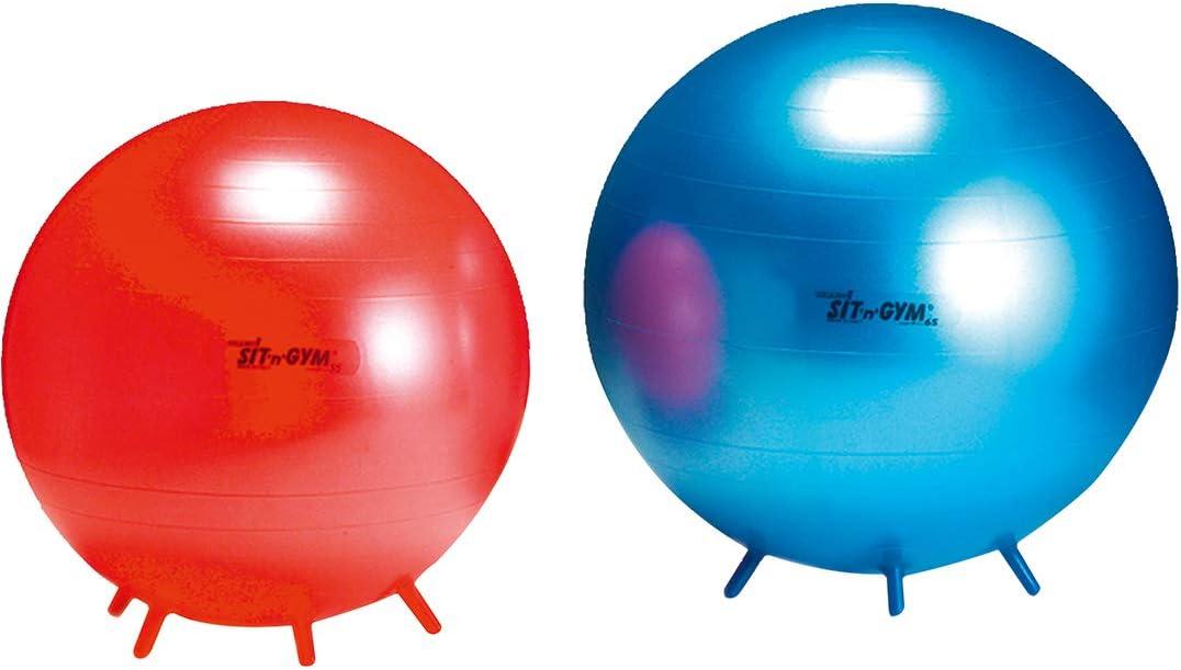 Gymnic SIT/´N/´Gym /Ø45 cm gelb Sitzball Gymnastikball f/ür Kinder ab 5+