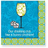 Design Design Our Drinking Club Cocktail Napkins, Multicolor