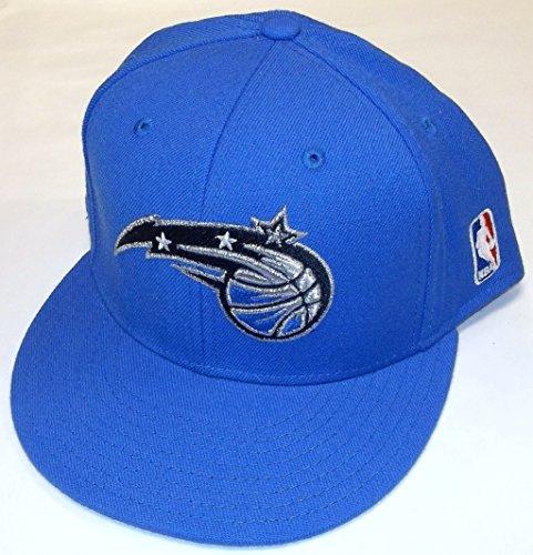 NBA adidas Orlando Magic Royal Blue Basic Logo Flat Brim Fitted Hat (8) ()