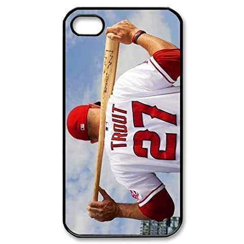 Fashion Mike Trout Personalized iPhone 4 4S Hard Case Cover -CCINO (Personalized Iphone 4s Phone Case)